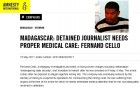 Madagascar: Detained journalist Fernand Cello needs proper medical care